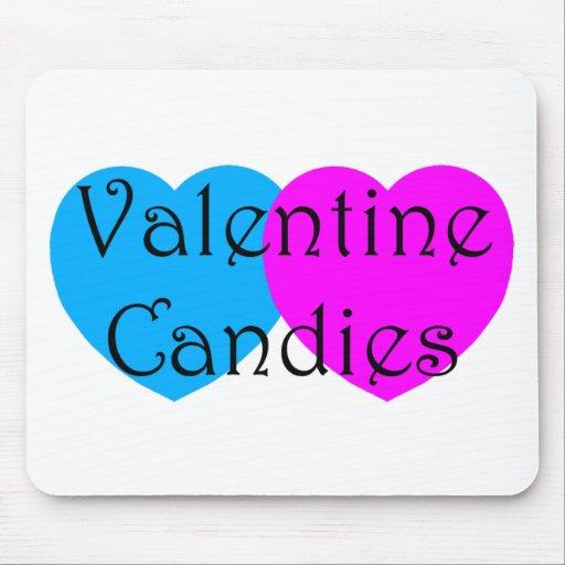 Caramelos de la tarjeta del día de San Valentín Tapetes De Ratón