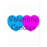 Caramelos de la tarjeta del día de San Valentín Tarjetas Postales