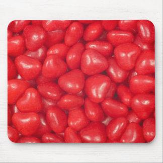 Caramelos del corazón del canela alfombrillas de ratones