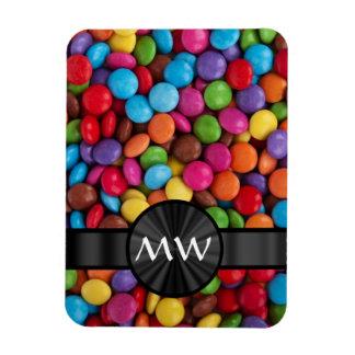 Caramelos mnogrammed multicolores imanes flexibles