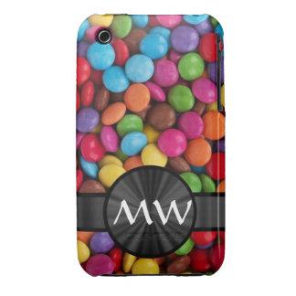 Caramelos mnogrammed multicolores iPhone 3 Case-Mate funda