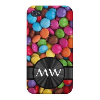 Caramelos mnogrammed multicolores iPhone 4/4S funda