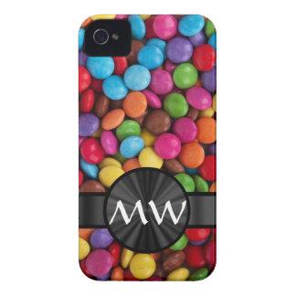 Caramelos mnogrammed multicolores iPhone 4 cobertura