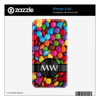 Caramelos mnogrammed multicolores iPhone 4S skin