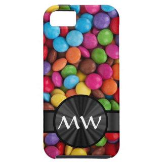 Caramelos mnogrammed multicolores iPhone 5 carcasa