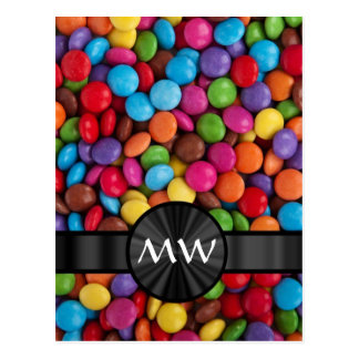 Caramelos mnogrammed multicolores postales