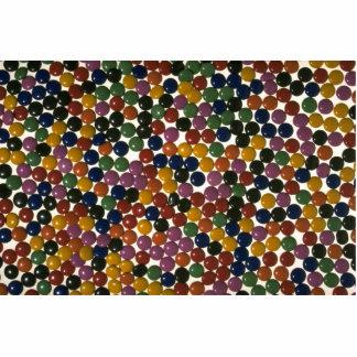 Caramelos multicolores deliciosos esculturas fotograficas