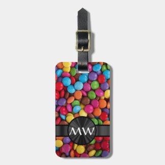 Caramelos multicolores etiquetas bolsas
