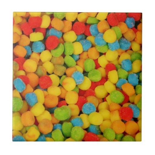 Caramelos suaves amargos azulejo cuadrado pequeño