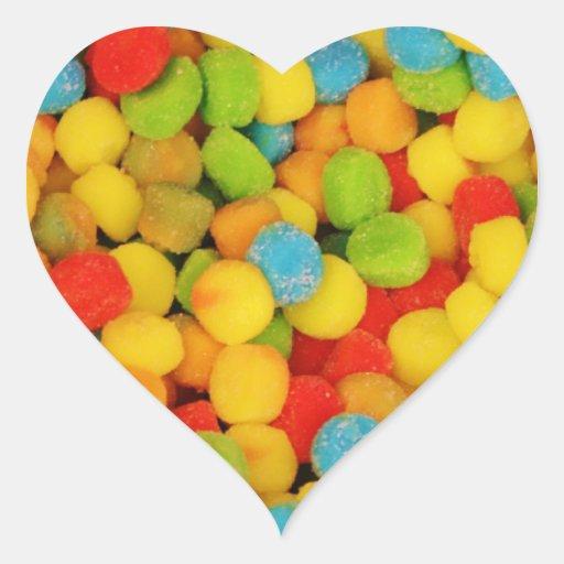 Caramelos suaves amargos pegatina en forma de corazón