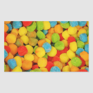 Caramelos suaves amargos pegatina rectangular