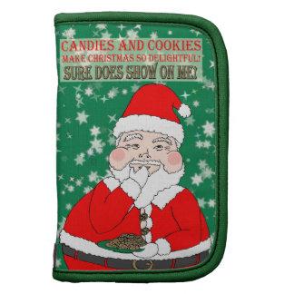 Caramelos y navidad divertido Santa de las galleta Planificadores