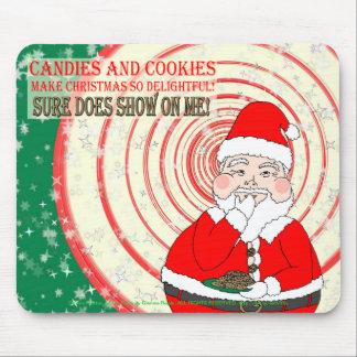 Caramelos y navidad divertido Santa de las galleta Alfombrillas De Ratón