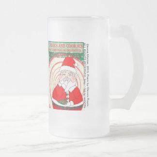 Caramelos y navidad divertido Santa de las galleta Taza