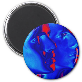 Caras azules imán de nevera