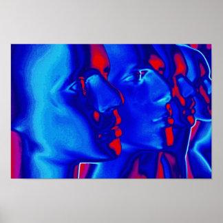 Caras azules poster