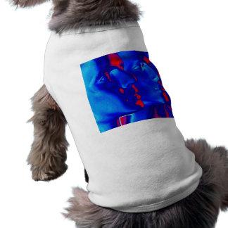 Caras azules camisas de mascota
