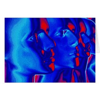 Caras azules felicitación