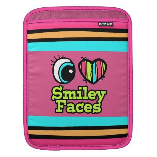 Caras brillantes del smiley del amor del corazón I Fundas Para iPads