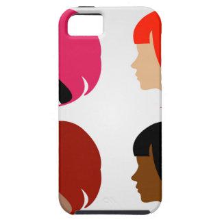 Caras de cuatro mujeres multi-étnicas funda para iPhone SE/5/5s