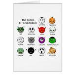Caras de Halloween Tarjeta De Felicitación
