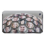 Caras de la gente en mitad superior del globo de funda para iPod de Case-Mate
