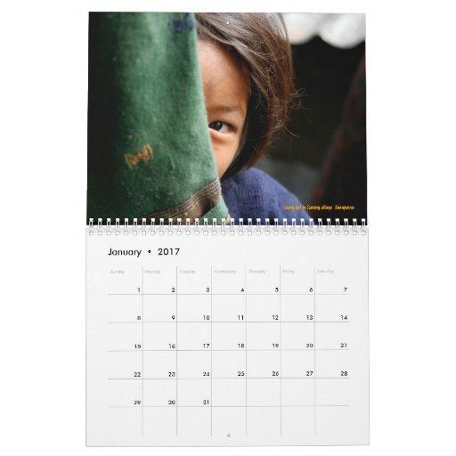 Caras de Nepal Calendario De Pared