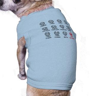 Caras de póker playera sin mangas para perro