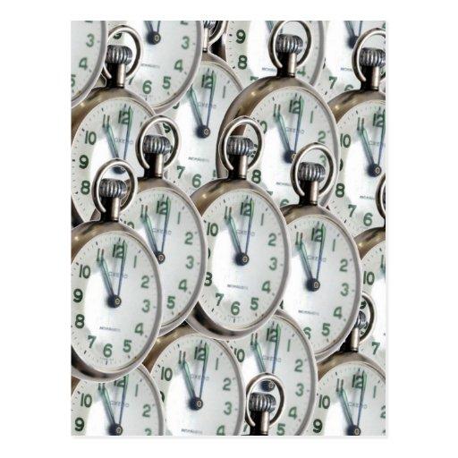 Caras de reloj múltiples postales