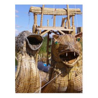 caras del barco del titicaca postales