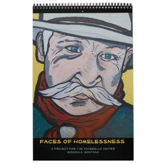 Caras del calendario de la falta de vivienda