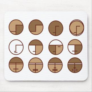 caras del diseño del arte gráfico tapete de raton