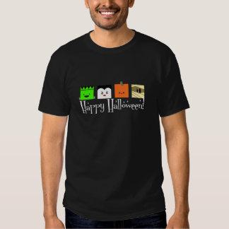 Caras del feliz Halloween Remeras