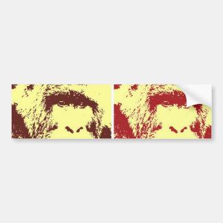 Caras del gorila del arte pop pegatina para auto
