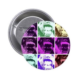 Caras del gorila del arte pop pin redondo 5 cm