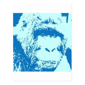 Caras del gorila del arte pop tarjetas postales