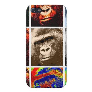 Caras del gorila iPhone 5 carcasas
