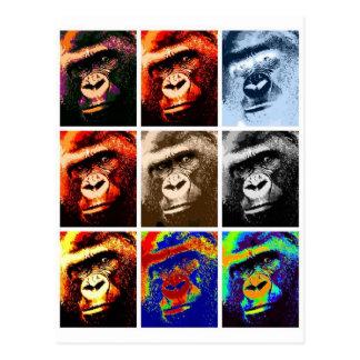 Caras del gorila tarjeta postal