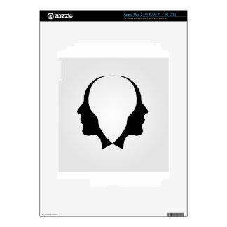 Caras del hombre en la dirección opuesta iPad 3 pegatina skin