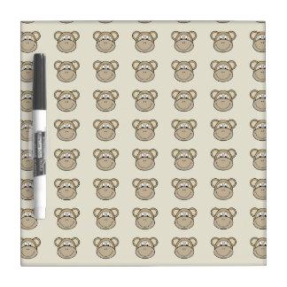 Caras del mono pizarra blanca