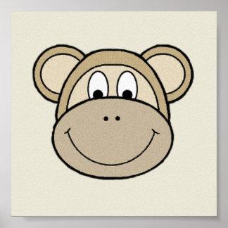 Caras del mono póster