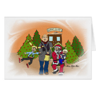Caras del navidad 1 tarjeta de felicitación