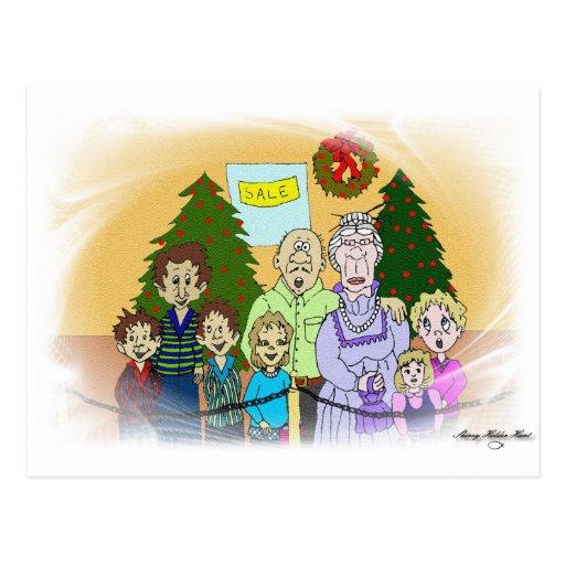 Caras del navidad III Postales