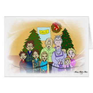 Caras del navidad III Tarjeta De Felicitación