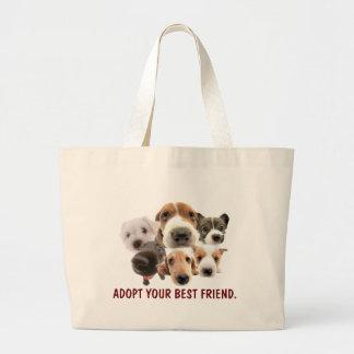 Caras del perrito bolsa de mano