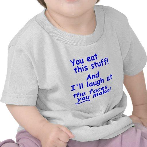 Caras divertidas del bebé camiseta