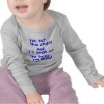 Caras divertidas del bebé camisetas