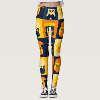 Caras divertidas leggings