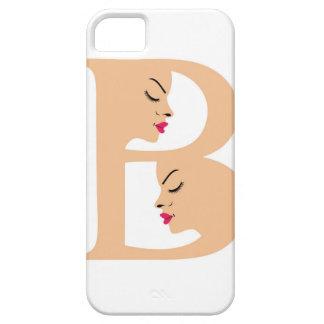 Caras en el alfabeto B para la belleza iPhone 5 Carcasa