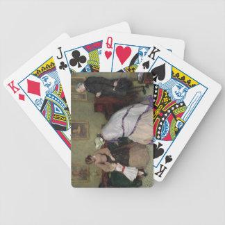 Caras extrañas (w/c y bodycolour en el papel) cartas de juego